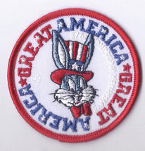 BUGS BUNNY Uncle Sam Bicentennial Great America Jacket Patch Mint Condit... - $7.95