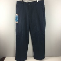 Dickies Work Pants 34x30 Relaxed Fit Navy Blue Straight Leg Flat Front NWT HH57 - $15.29