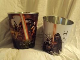 Star Wars Episode VII The Force Awakens Popcorn Bucket Tin Set of 2 Kylo... - $39.59