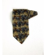 Endangered Species Elephants Vintage Novelty Tie Necktie 100% Silk - $15.83