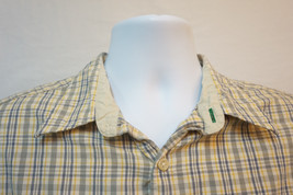 Tommy Hilfiger Midweight Short Sleeve Button-Front Shirt, Plaid, Mens La... - $8.91