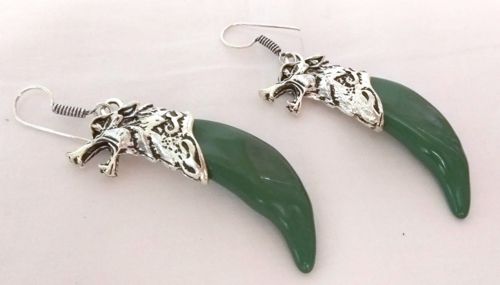 Indian Bollywood Style Silver Plated Green Color Stone Earrings Fashion Jewelry1