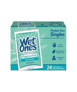 Wet Ones Antibacterial Hand Wipes Singles, Sensitive Skin, 24 Ct - $3.95
