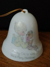 Precious Moments Coming Out To Wish You A Merry Christmas Bell - $4.90