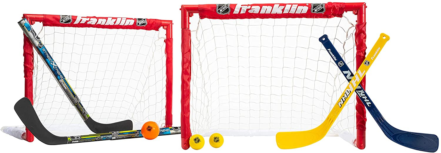 Primary image for Franklin Sports Kids Folding Hockey 2 Goal Set - NHL - Street Hockey and Knee Ho
