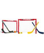 Franklin Sports Kids Folding Hockey 2 Goal Set - NHL - Street Hockey and... - $44.99