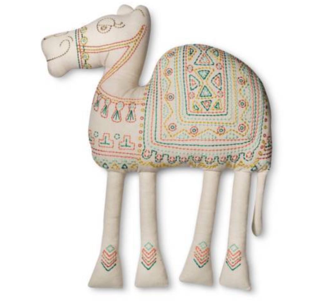 CAMEL Shaped PILLOWFORT Throw Pillow Camel boho Desert Home Decor Bedding NEW
