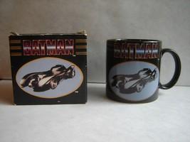 Vintage 1989 Batman Batmobile Ceramic Mug w/ Original Box by Applause - $7.85