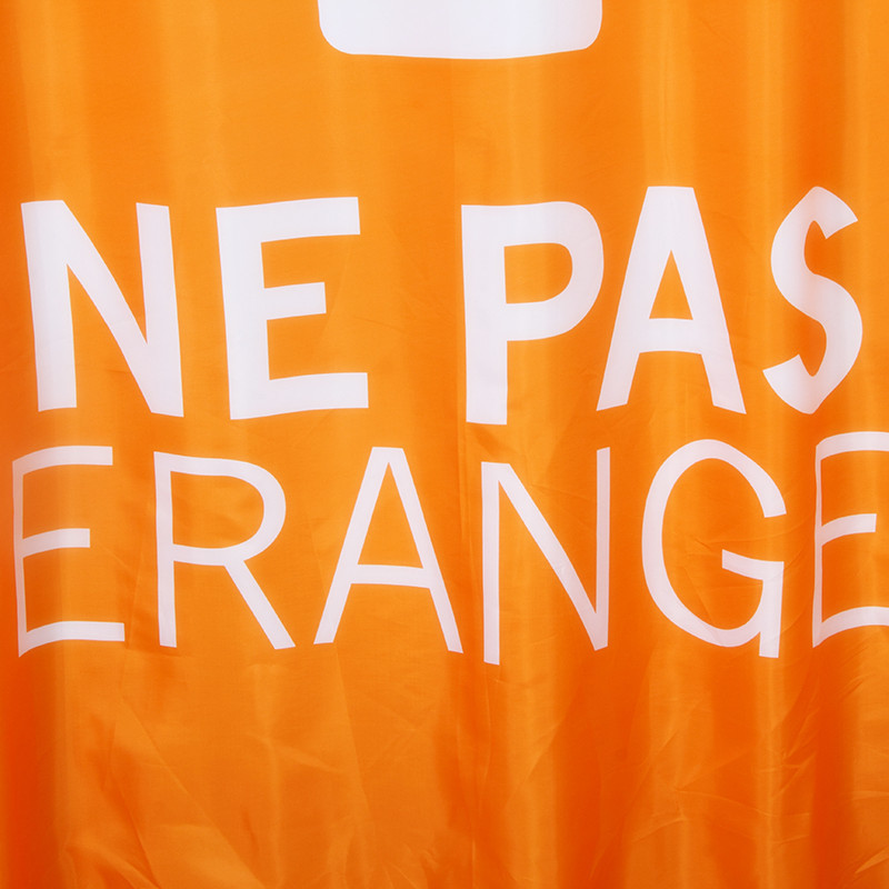 Fabric Polyester Orange Showering Waterproof Thicken Shower Curtains Nepas Bathr