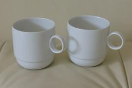 """2 Rosenthal Studio-Line 1986 Fine Porcelain Mugs - 2 3/4"""" Tall - $40.00"""