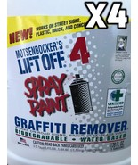 Graffiti Remover Lift OFF 4 Spray Paint Graffiti Remover Bio Degradable ... - $152.00