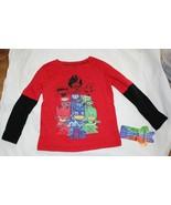 New Toddler Disney PJ Masks Long Sleeve Shirt Size 3T Red Gekko Catboy O... - $9.89