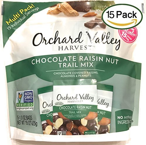 Orchard Valley Harvest Snack Packs - Chocolate Raisin Nut Mix - 15 Ct. Mix Multi
