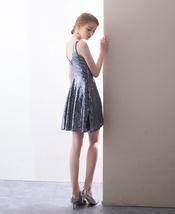 ROSE GOLD Sequin Maxi Dress Mermaid Slit Maxi Sequin Dress Plus Size Sequin Gown image 7