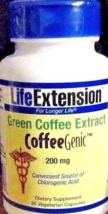 Green Coffee Dietary Extract Life Extension CoffeeGenic 200MG  90CT MSRP... - $10.88