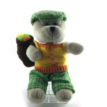 Starbucks Golfer Plush Bear 2006 Collectible Stuffed Teddy 10 in Tall - $13.91