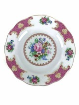 Venetian Lagoon England Rose Hand Colored Floral Porcelain Collector Pla... - $23.33