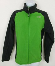 The North Face Green Black Fleece Zip-up Women's Jacket Size M - $31.18