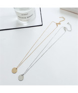 Men and women's Gold and Silver Coin Chain Pendant Necklace.  - $24.99
