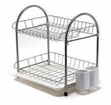 DY Nice 2-Layer Dish Rack Tableware Trays Stainless Steel