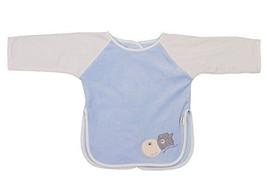 New Style Velvet Cute Baby Bibs Kids Feeding Smocks BLUE, 0-3 Years