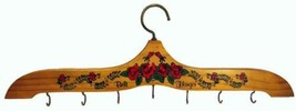 7 Hook Wood Coat Belt Hanger 70s Vintage England 44 x 14 cm - €13,03 EUR