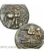 Aretas POMPEY Camel Chariot age JULIUS CAESAR Ancient Roman Silver Denar... - $359.10