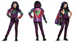 Disguise Disney Descendants Mal Prestige Girls Child Halloween Costume 1... - $117.91
