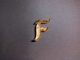 """Vintage Gold Tone """"F"""" Initial Pin Brooch - $9.90"""