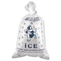 Inteplast Group Ice Bag 12 x 21 10lb Capacity 1.5mil Clear/Blue 1000/Carton - $1.882,54 MXN