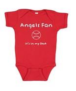Los Angeles Angels Baseball Fan It's in My DNA Baby Dad Bodysuit Creeper  - $8.95