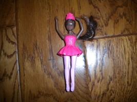 McDonalds 2019 Mattel Black African American Barbie Ballerina Toy Doll - $5.94