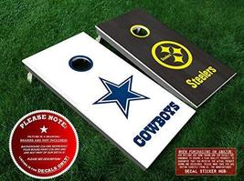 Dallas Cowboys vs Pittsburgh Steelers Cornhole Decals - 6PC Set Fit for ... - $33.99