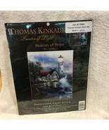 1999 MIP Candamar Thomas Kinkade Embellished Cross Stitch Beacon Of Hope... - $29.21