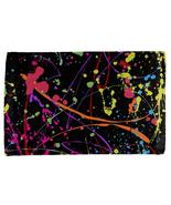 Splatter Paint Black All Over Hand Towel - $18.95