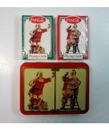 2 Decks 1994 Coke Coca-Cola Santa Claus Playing Cards in Collectible Tin  - $6.99