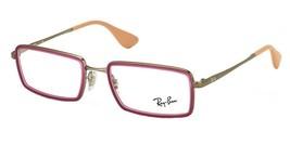 Ray Ban Frames Metal Titanium Rx Eyeglasses Burgundy RX6337 2857 51-18-140 - $148.50