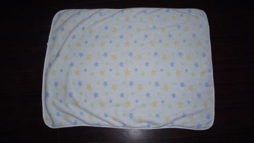 Carter's White w/ Stars Baby Security Blanket Plush Sherpa Fleece