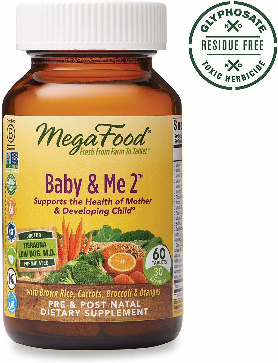 Baby & Me 2 Prenatal and Postnatal Vitamin Dietary Supplement with Iron 60 ct - $39.99