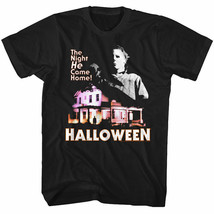 Halloween Horror Movie Glowing House The Night He Came Home Men's T Shirt - $20.29+