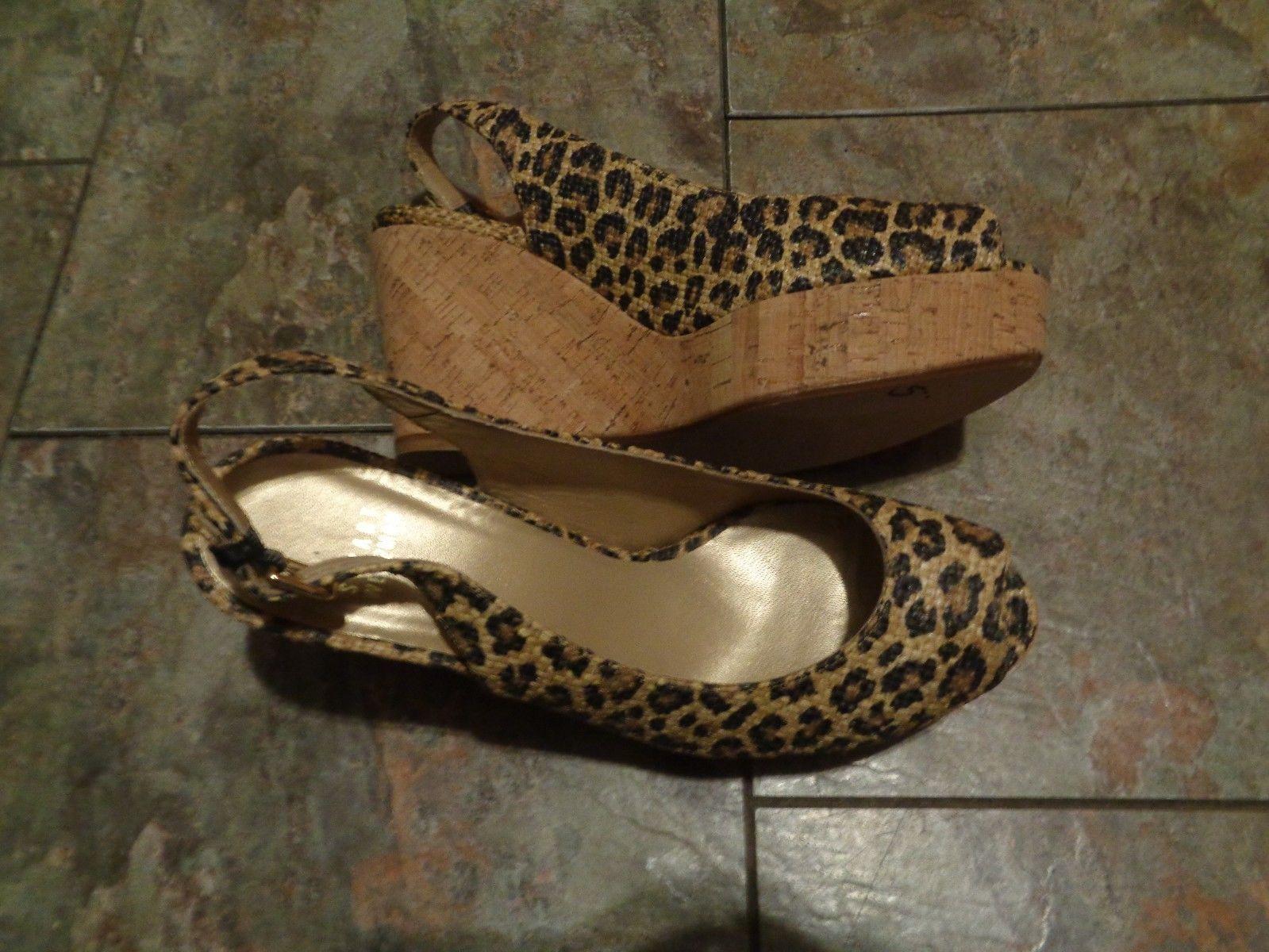 1a2a5f8808c 57. 57. stuart weitzman animal print slingback wedge heels size 9 ...