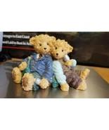 Figurine teddy Bears with Wine FML 98 Mohair Tag - $3.24