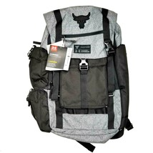 Under Armour X Project Rock UA Regiment Backpack Black Gray Chase Greatness Bag - $186.99