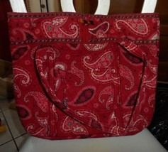 -Vera Bradley XL toggle tote in Mesa Red - £42.17 GBP