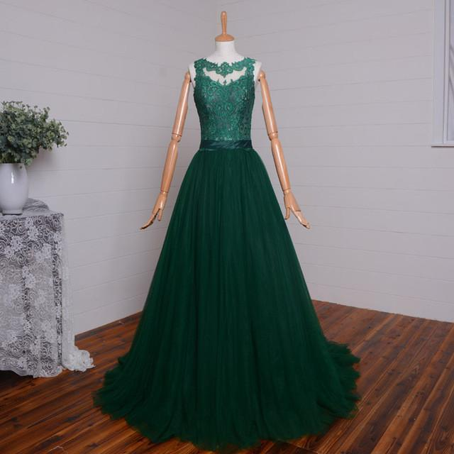 Ionable long evening dresses sexy see though back green lace appliqued wedding party.jpg 640x640