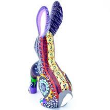 Handmade Alebrije Oaxacan Wood Carving Painted Folk Art Jackrabbit Rabbit Figure image 2