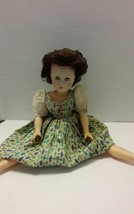 """Vintage Horsman Doll Plastic Jointed 20"""" Tall Brown Hair Blue Eyes Open  - $24.18"""