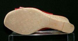 Franco Sarto 'Carnival' red peep toe buckle slingback cork platform wedges 9M image 10