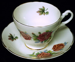 Vintage REGENCY Bone China TEA CUP & SAUCER SET Pink Rose Pattern - €29,95 EUR