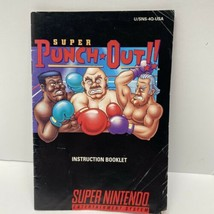 Super Punch-Out Super Nintendo SNES Instruction Manual Booklet ONLY - $13.99